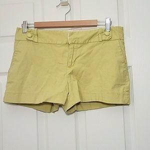 Banana Republic Ryan fit lime green shorts